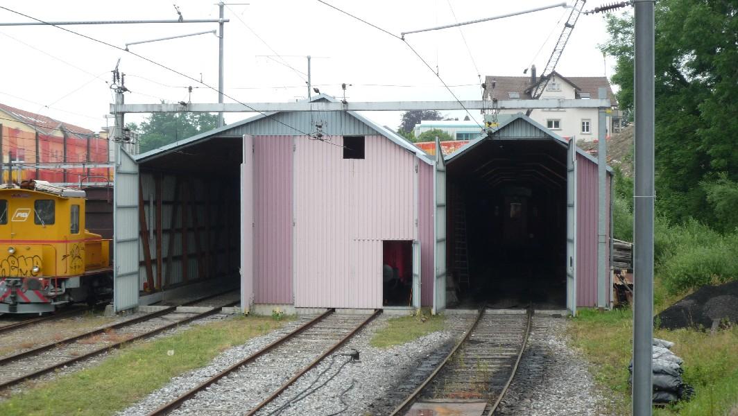 Bei der haltestelle seebleiche zweigt eine kurze strecke for Depot friedrichshafen